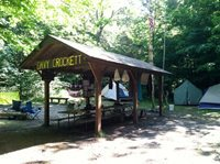 Shelter at Crockett Campsite, Camp Ma-Ka-Ja-Wan