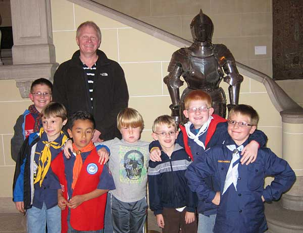 Cub Scout Pack 44 tour the Cuneo Estate, Oct., 2012