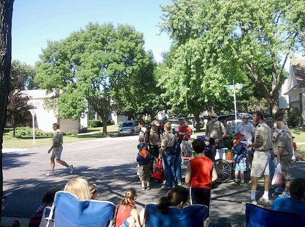 Troop 44 & Pack 44 participate in Vernon Hills 4th of July Parade