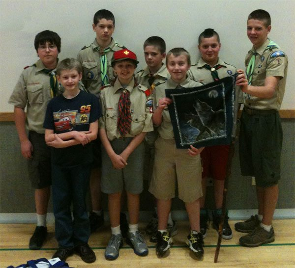 Troop 44 from the Potawatomi District First Aid Meet, 3-17-12