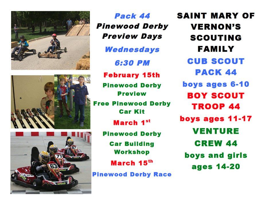 Pack 44 Pinewood Derby Days Front-