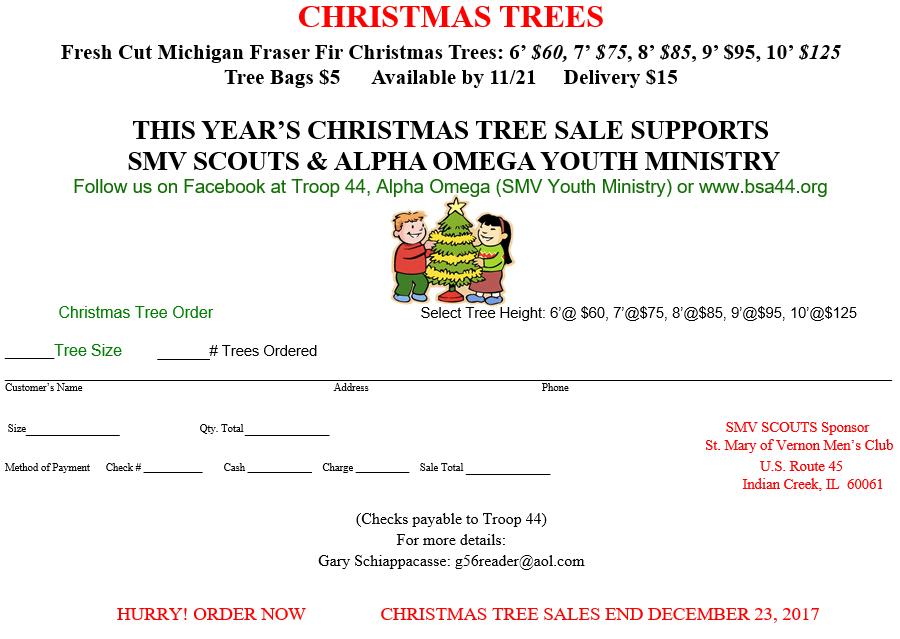 BSA 44 Christmas Tree Sale 2017